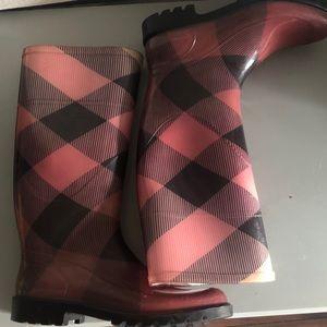 Burberry Big Scale Check Rain Boots